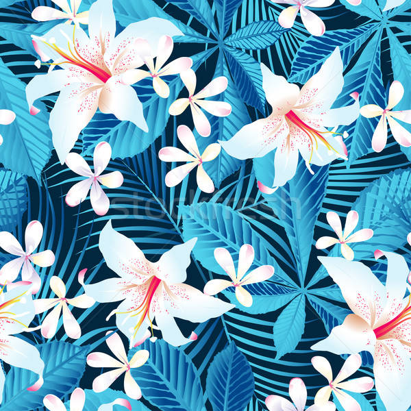 Tropicales hibisco floral Foto stock © adamfaheydesigns