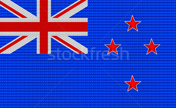 New Zealand flag embroidery design pattern Stock photo © adamfaheydesigns