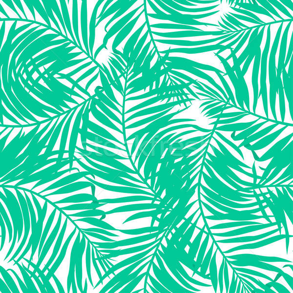 Tropical lush palms seamless pattern Stock photo © adamfaheydesigns
