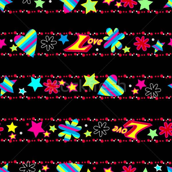 Girls cute Love sequin seamless pattern Stock photo © adamfaheydesigns