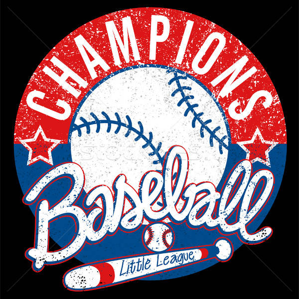 Baseball Champions league distressed emblem Stock photo © adamfaheydesigns