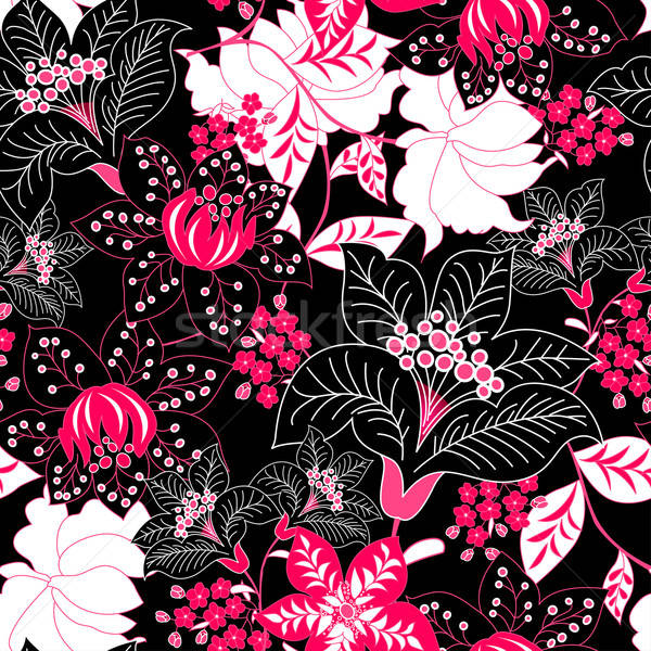 Detailed tropical floral seamless pattern Stock photo © adamfaheydesigns