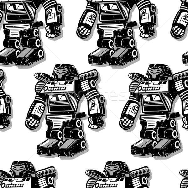 Noir robot guerrier technologie jouet Photo stock © adamfaheydesigns