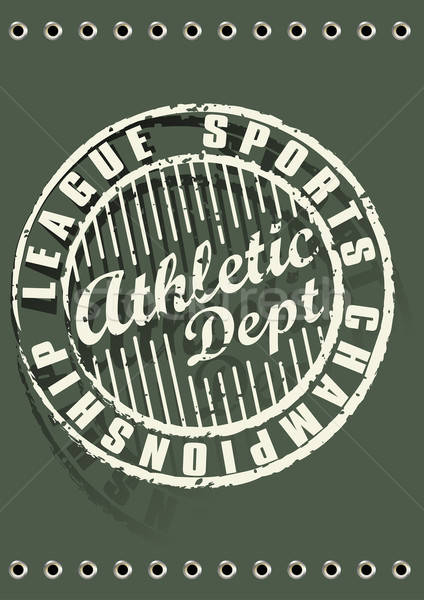 Athletic Dept Stock photo © adamfaheydesigns