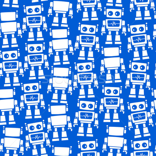 Little robot front and back seamless pattern Stock photo © adamfaheydesigns