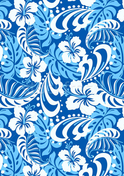 Tropical blue abstract repeat pattern Stock photo © adamfaheydesigns