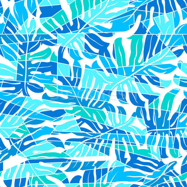 Blue abstract surf pattern in a seamless pattern Stock photo © adamfaheydesigns