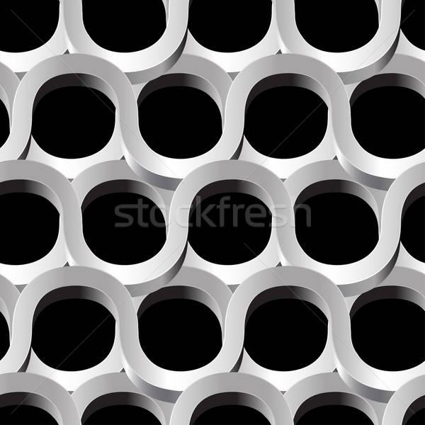 Silver metal abstract mesh seamless patter on black Stock photo © adamfaheydesigns