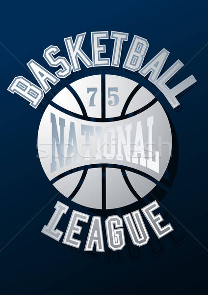 Basketball National League on a navy blue background Stock photo © adamfaheydesigns
