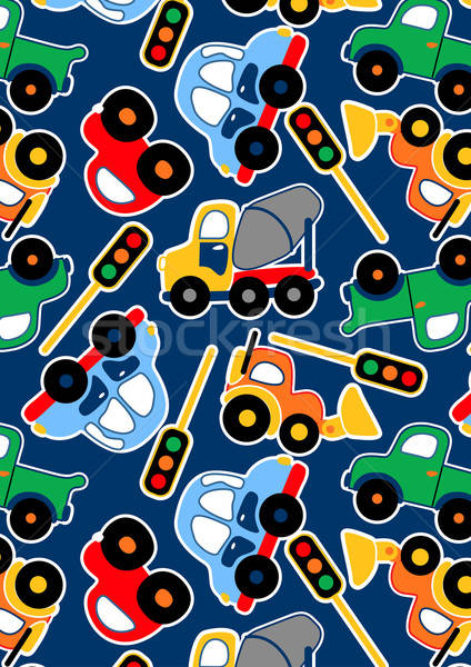 Cute transporte semáforo repetir patrón Foto stock © adamfaheydesigns