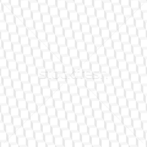 White 3D cube in a seamless pattern Stock photo © adamfaheydesigns