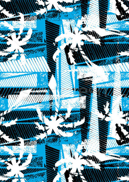 Tropical palm stencil pattern Stock photo © adamfaheydesigns