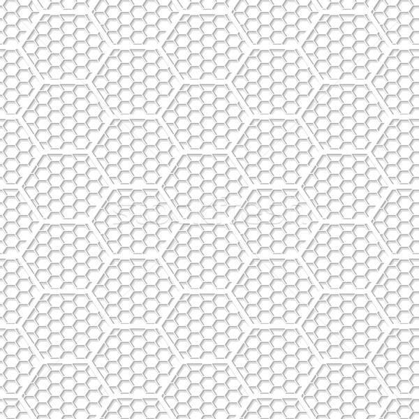 белый шестиугольник аннотация текстуры Сток-фото © adamfaheydesigns