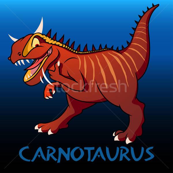 Carnotaurus cute character dinosaurs Stock photo © adamfaheydesigns