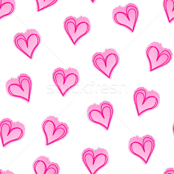 Pink love hearts in a seamless pattern Stock photo © adamfaheydesigns
