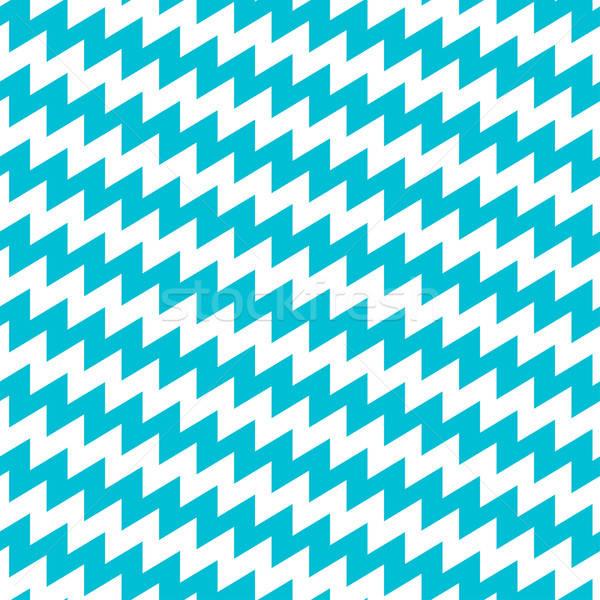 Türkiz fehér átló végtelen minta absztrakt háttér Stock fotó © adamfaheydesigns