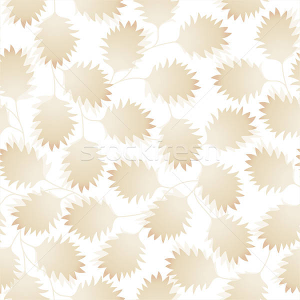 Brown pointy leaves in a seamless pattern Stock photo © adamfaheydesigns
