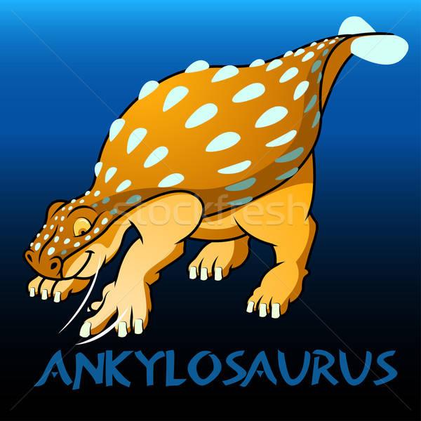 Ankylosaurus cute character dinosaurs Stock photo © adamfaheydesigns