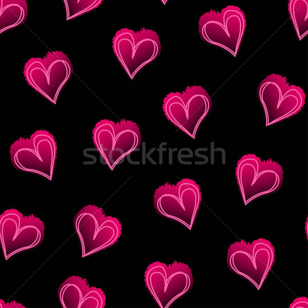 Rose amour coeurs noir carrelage Photo stock © adamfaheydesigns