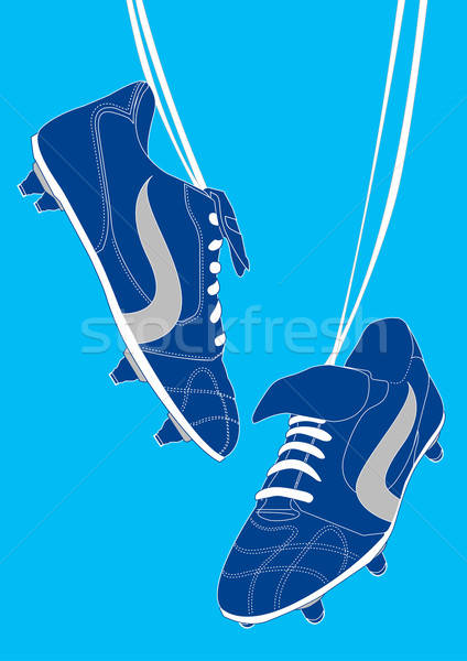 Blue football shoes Stock photo © adamfaheydesigns