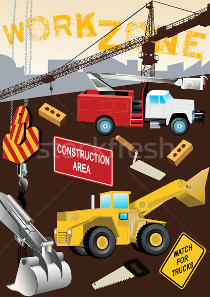 Work Zone Construction Stock photo © adamfaheydesigns
