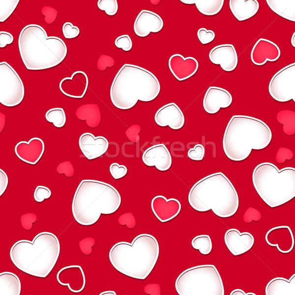 Cute corazones rojo Foto stock © adamfaheydesigns