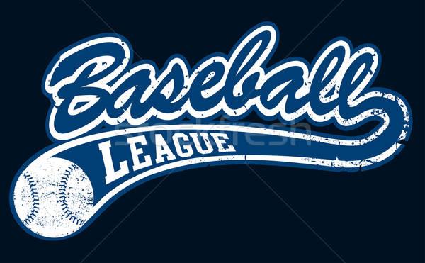 Azul beisebol liga bandeira bola esportes Foto stock © adamfaheydesigns