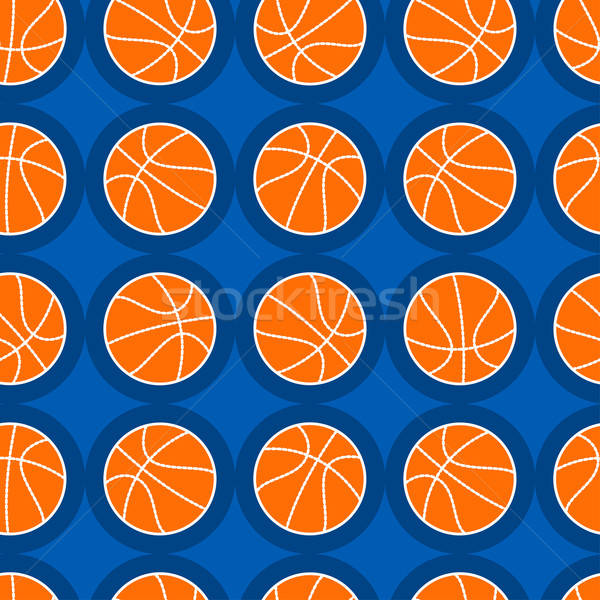 Basketball sports seamless pattern Stock photo © adamfaheydesigns