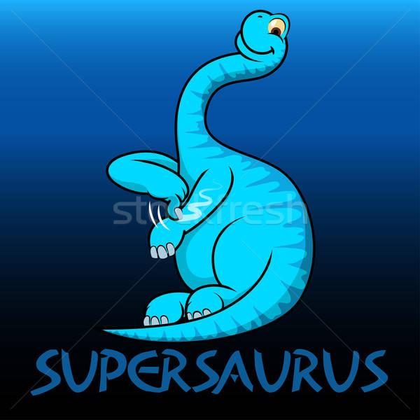 Supersaurus cute character dinosaurs Stock photo © adamfaheydesigns