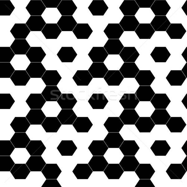 Kockás mértani hatszög végtelen minta háttér keret Stock fotó © adamfaheydesigns