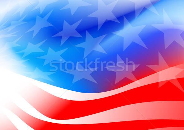 Absztrakt amerikai zászló fehér világ zászló piros Stock fotó © adamfaheydesigns