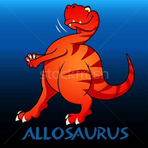 Aranyos karakter dinoszauruszok gyerekek fogak szín Stock fotó © adamfaheydesigns