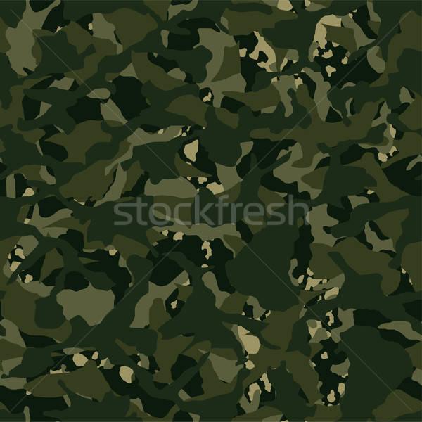 Camouflage outdoor disruptive khaki seamless pattern Stock photo © adamfaheydesigns