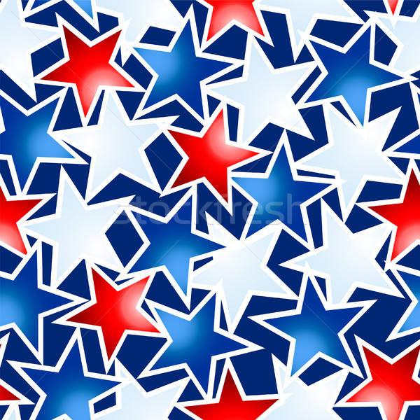 Vermelho branco azul estrelas Foto stock © adamfaheydesigns