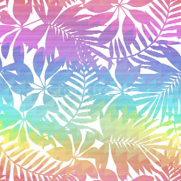 Trópusi levél szivárvány végtelen minta háttér szín Stock fotó © adamfaheydesigns