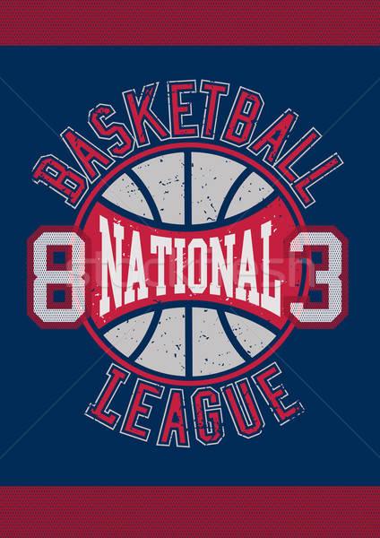 Basketbal competitie sport bal weefsel Rood Stockfoto © adamfaheydesigns