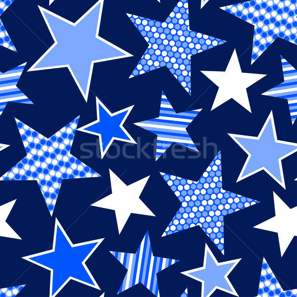 Blue stars and stripes seamless pattern Stock photo © adamfaheydesigns