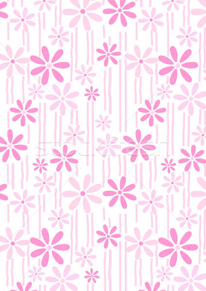 Flowers and stems pink abstract repeat pattern Stock photo © adamfaheydesigns