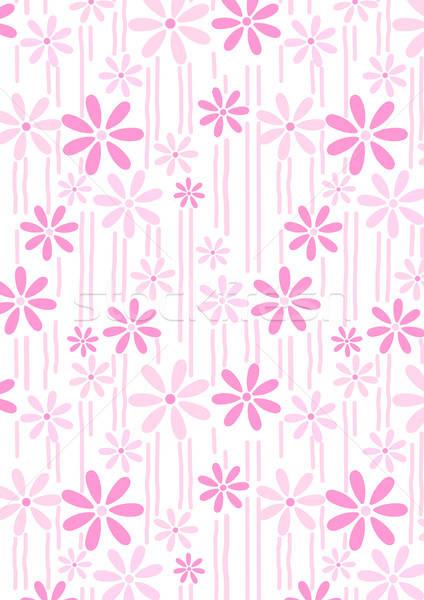 花 ピンク 抽象的な 繰り返し パターン ストックフォト © adamfaheydesigns