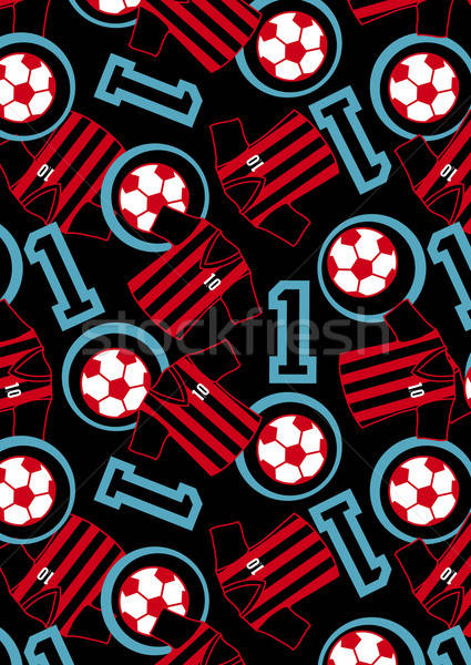 Soccer ball and jersey repeat pattern Stock photo © adamfaheydesigns