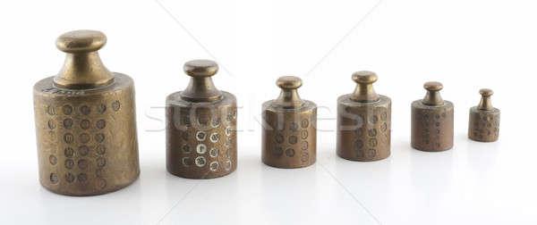 Pesos macro tiro edad utilizado Foto stock © advanbrunschot