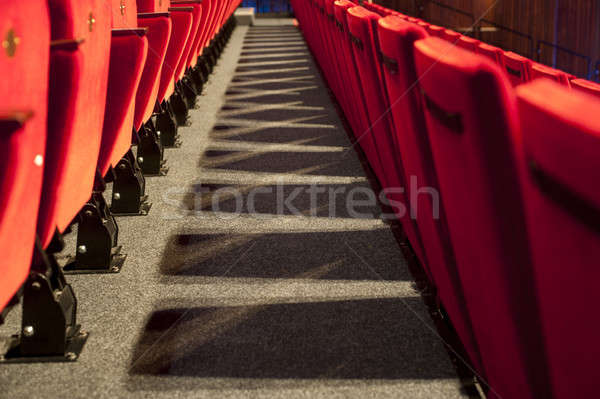 Théâtre rangée président rouge escaliers horizons Photo stock © advanbrunschot