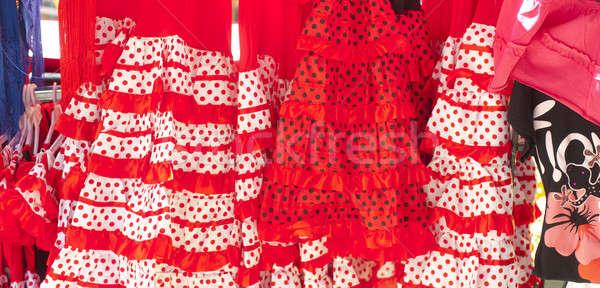 Flamenco tradicional moda dança armazenar fundos Foto stock © advanbrunschot