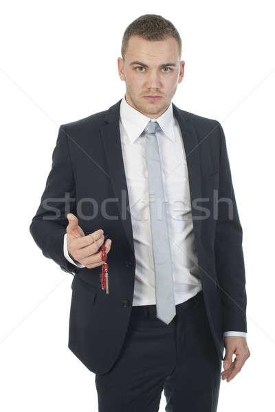 businessman with a Greek komboloi Stock photo © advanbrunschot