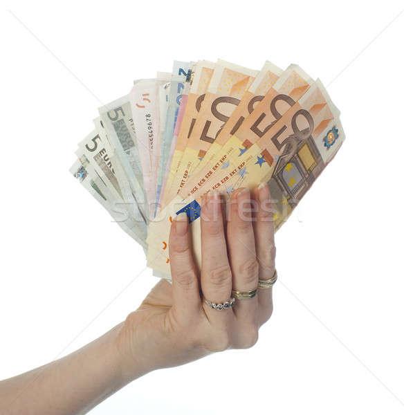 Europeo moneda mano billetes Foto stock © advanbrunschot