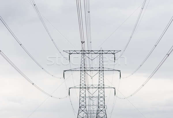 power lines Stock photo © advanbrunschot
