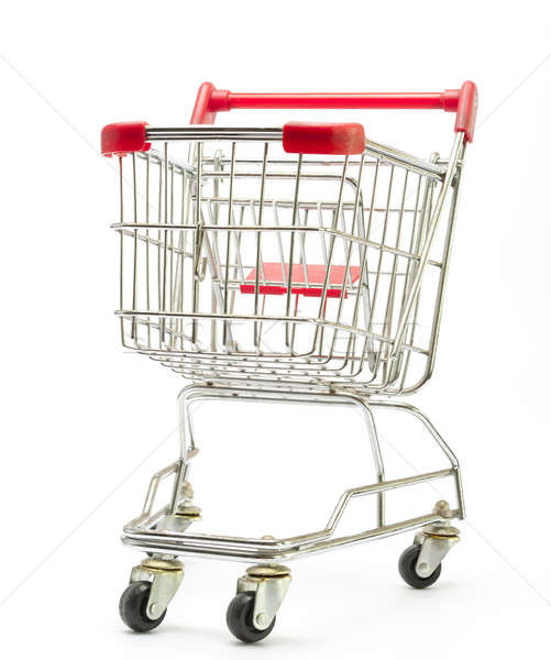 Cesta de la compra aislado blanco alimentos metal mercado Foto stock © advanbrunschot