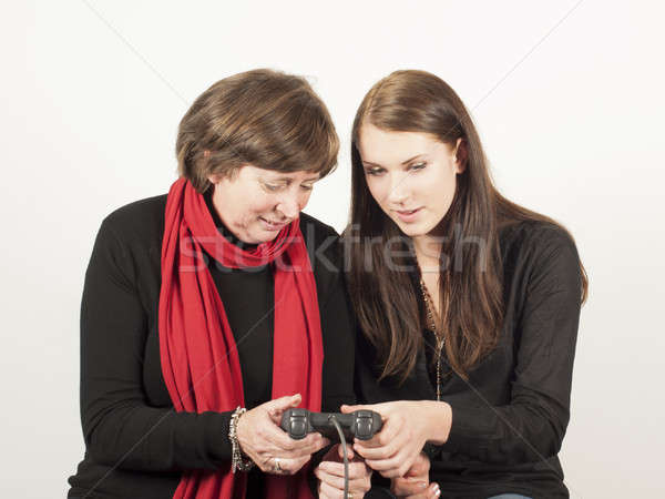 mother and daughter playing Stock photo © advanbrunschot