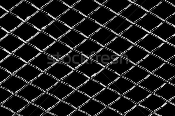 Tiszta fényes gyémánt króm markolás fémes Stock fotó © aetb