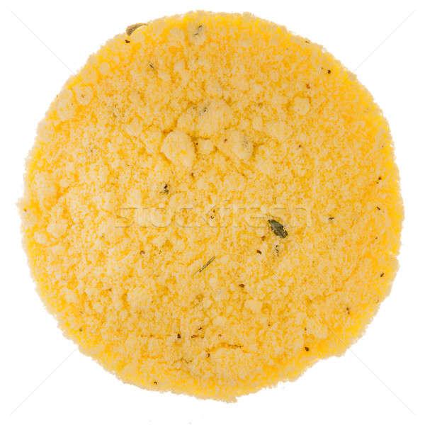 Kip bouillon textuur perfect cirkel Stockfoto © aetb
